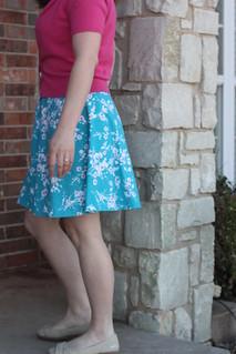 Lady Skater in Cherry Blossom