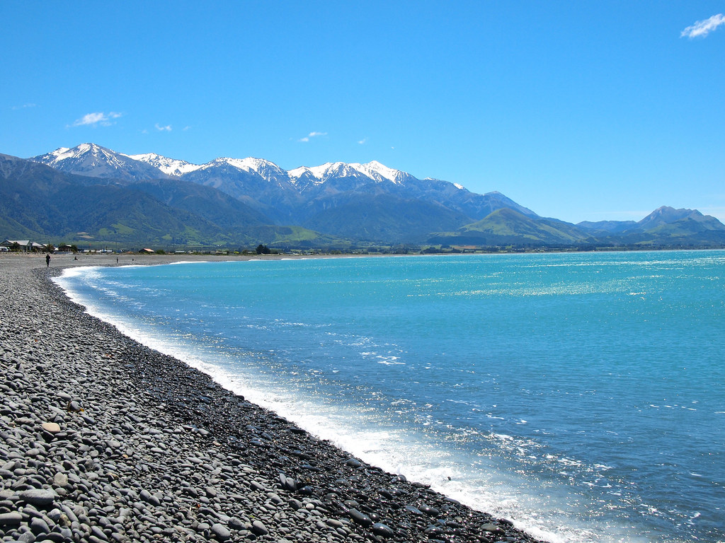 Beach in Kaikoura, New Zealand