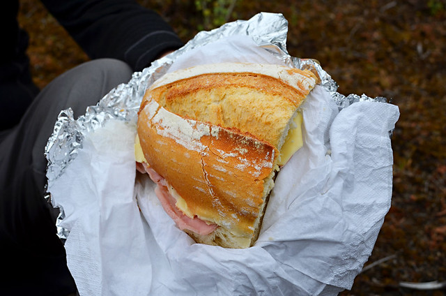 ham and cheese bocadillo