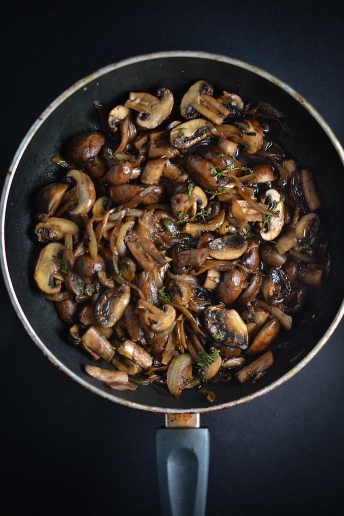 mushroom and caramelized onion polenta | things i made today