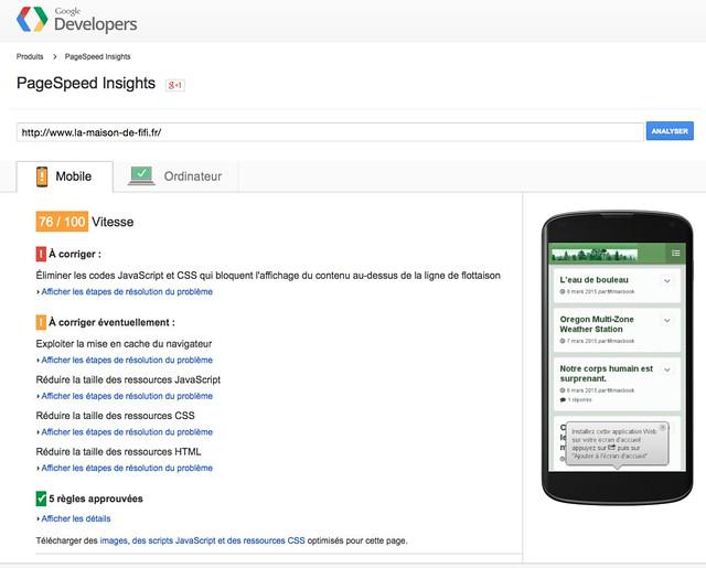 résultat google mobile