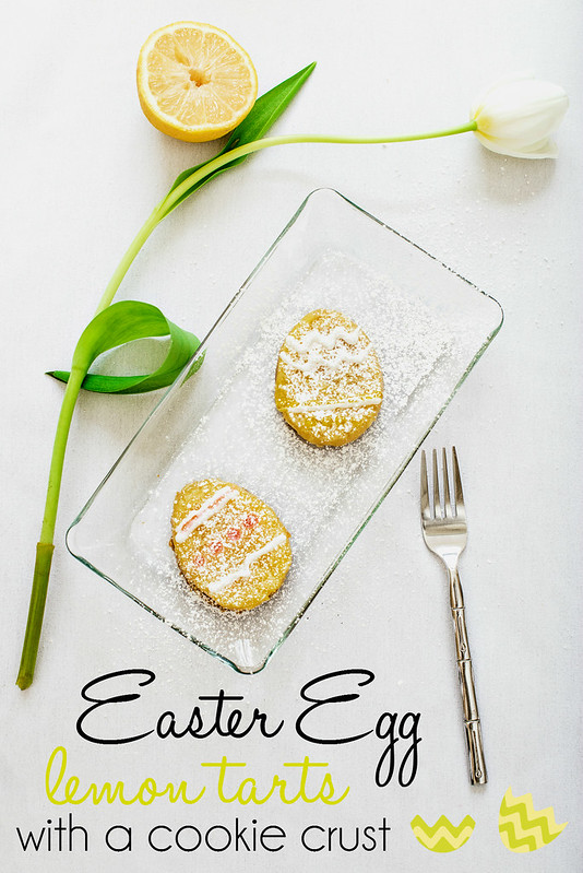 #EasterEssentials Easter Egg Lemon Tarts with a cookie crust