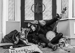 Busker Girl & her faithful dog