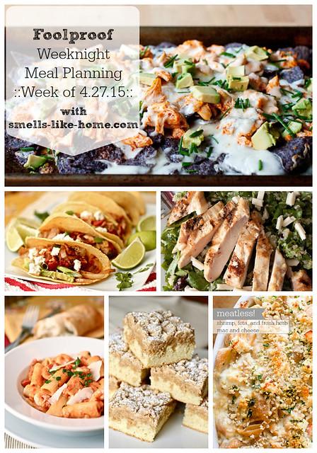 Foolproof Weeknight Meal Planning – Week of 4.27.15