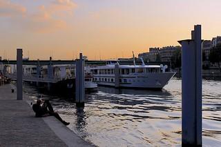 MS Botticelli docked on the Seine