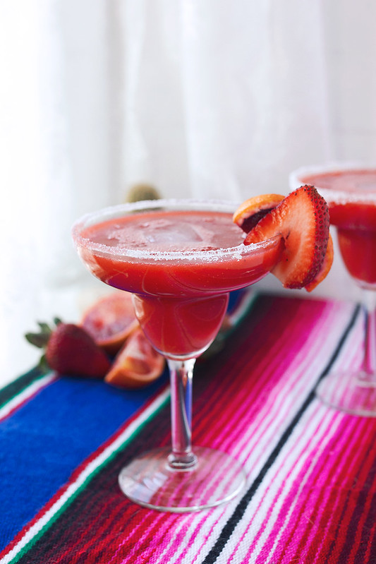 Strawberry Blood Orange Margarita