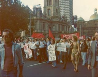 Protest in Sydney at Whitlam Government dismissal 11 November 1975
