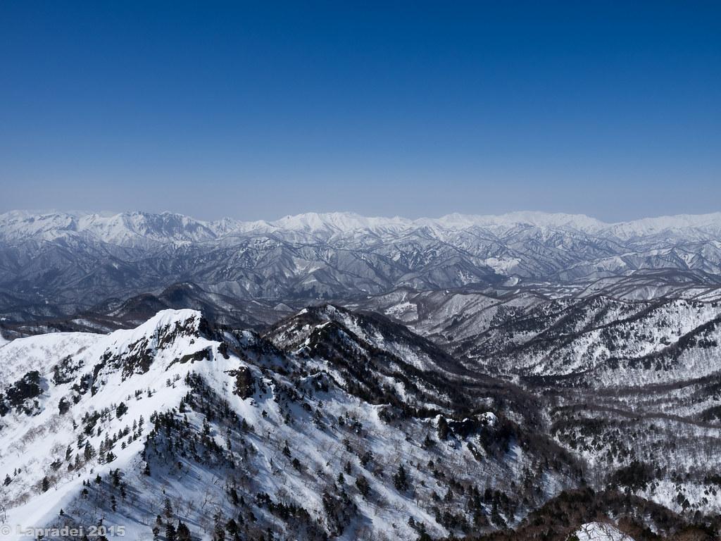 谷川連峰、朝日岳、巻機山