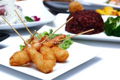Fried prawn balls put
