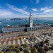 Ferry Building and Bay Bridge by derwiki