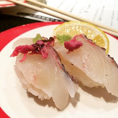 sakura-dai with lemon & salt #chojiro #sushi #寿司 #長次郎 #osaka #japan