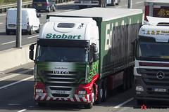 Iveco Ecostralis 6x2 - PX12 AZB - H2970 - Lynda Dawn - Eddie Stobart - M1 J10 Luton, Bedfordshire - Steven Gray - IMG_8731