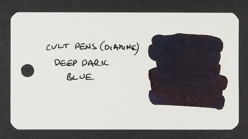 Cult Pens (Diamine) Deep Dark Blue - Word Card