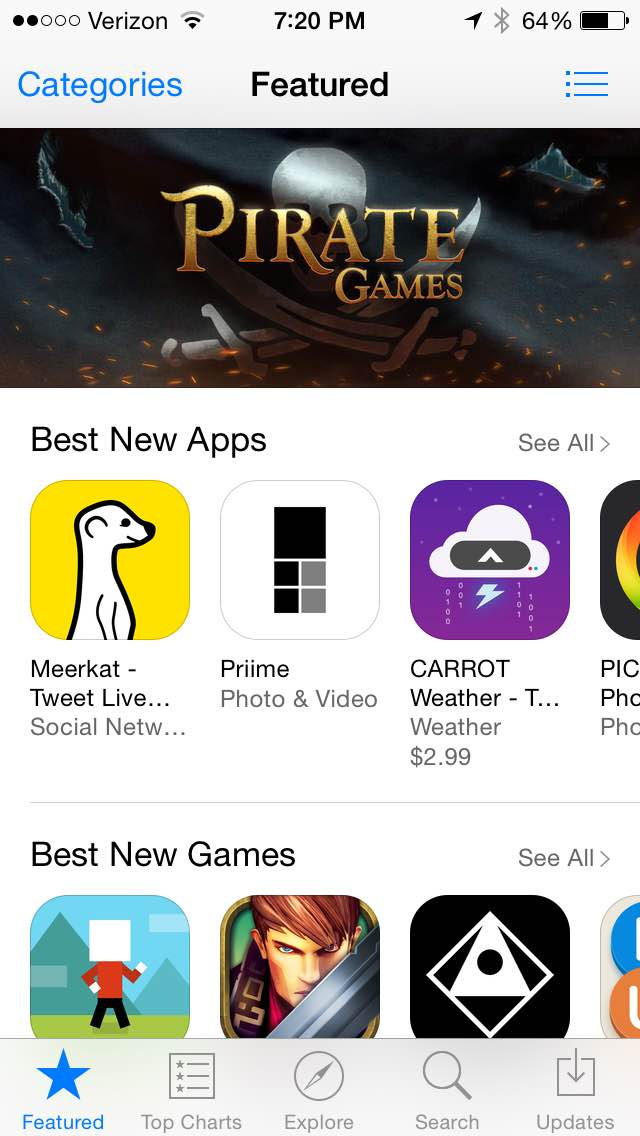 Priime Featured in the Best New Apps Section of the iPhone App Store