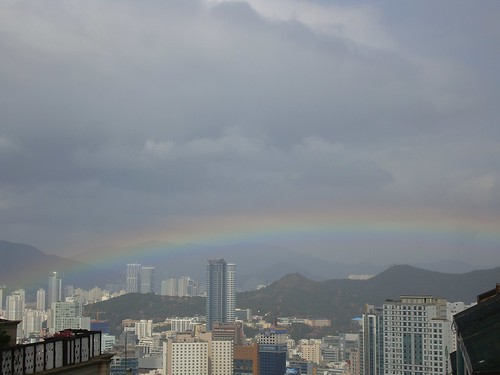 rainbow above Busan