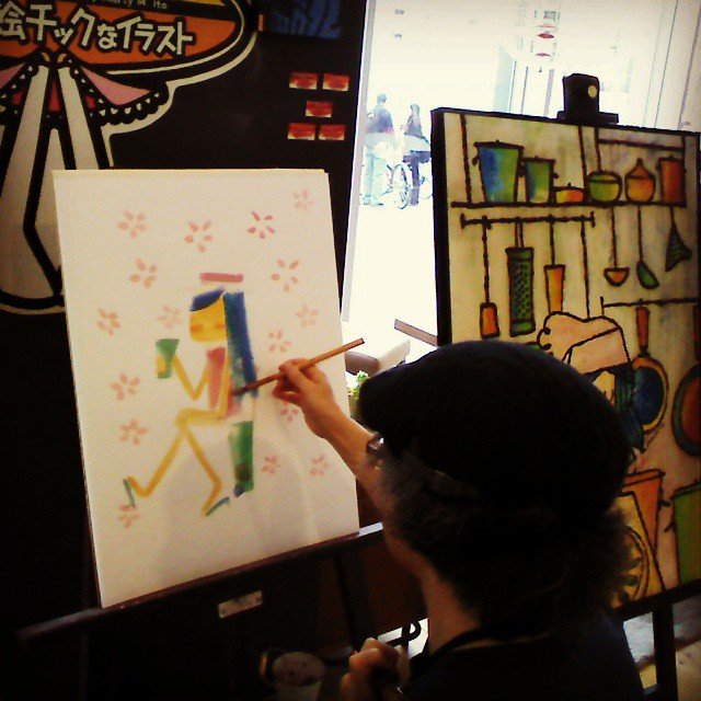 Live Painting Now. ライブペイントやってますよ。