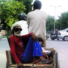 Going #home after a #hard #day at #work #chandigarh #india #transport #ingenuity #rickshaw #cycling #labour