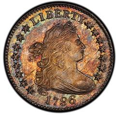 1796 Draped Bust Dime obverse