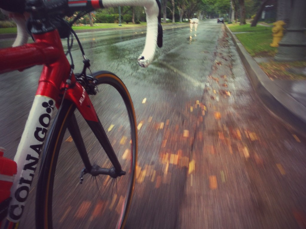 Spring showers... refreshing ride.
