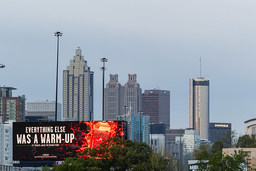 city morning atlanta urban skyline sunrise canon billboard commercial