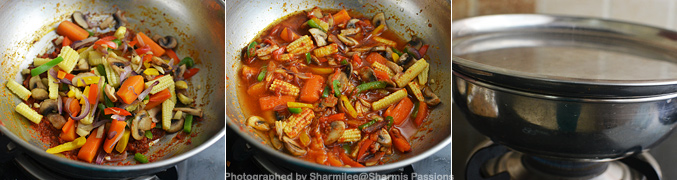 How to make baby corn paneer jalfrezi - Step3