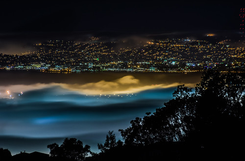 sanfrancisco california city black color silhouette northerncalifornia fog night port dark flow oakland bay spring nikon glow waterfront view over bayarea eastbay alamedacounty 2016 boury pbo31 d810 hillerhighlands