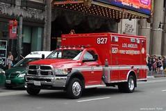 Los Angeles Fire Dept - Rescue 827 - BLS - Ram Ambulance (2)