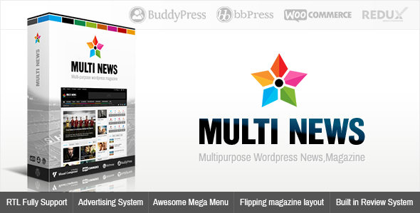 Multinews v2.5.9 – Multi-purpose WordPress News,Magazine