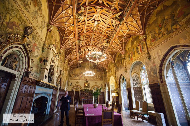 The main dining hall at the heart of Cardiff Castle
