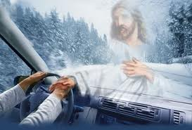 Jesus takes the wheel