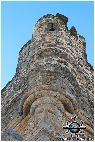 Detalle de la Torre del Homenaje del Castillo de Berlanga, Berlanga de Duero (Soria, España)