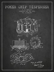 Poker Chip Dispenser Patent from 1962