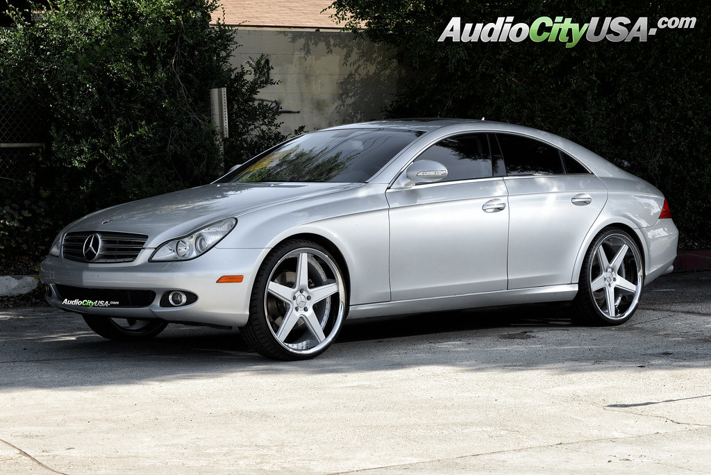 2007 mercedes benz cls 550 on 22 azad a0008 silver face for 2007 mercedes benz cl 550