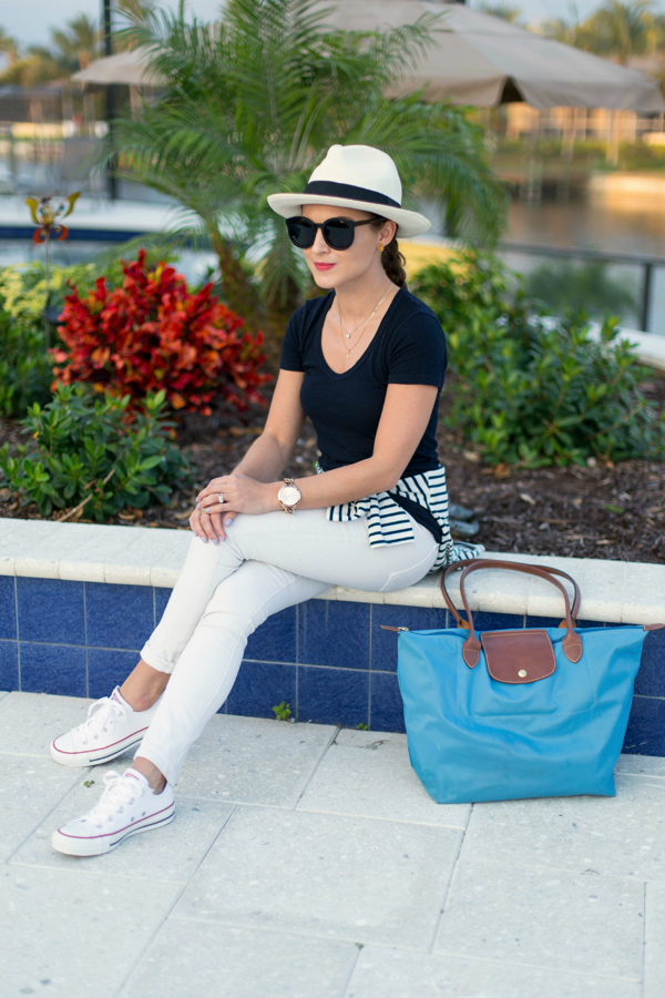 Casual-preppy vacation look