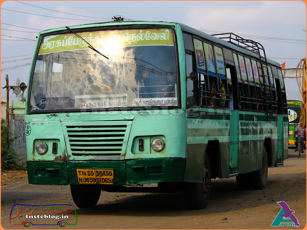 TN-55N-0659 of Thiruchendur  Depot Route 72A Thiruchendur - Nagercoil via Kayamozhi, Paramankurichi, Udangudi, Thisayanvilai, Attankarai Pallivasal, Radhapuram, Vadakankulam, Kavalkinaru, Aralvaimozhi.