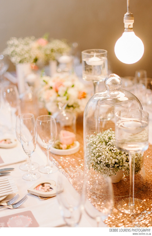Country glam wedding in golds & pinks