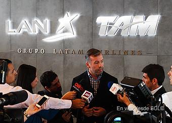Nicolás Rodríguez, Grte Aeropuerto SCL LAN en contigencia 26 de marzo (RD)