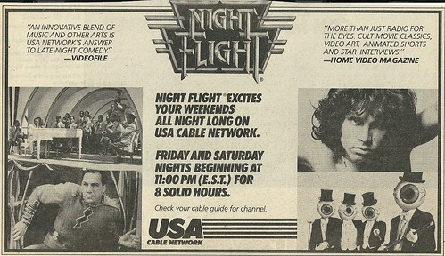 Dec. /82 RS (Night Flight on USA - Schedule Ad)