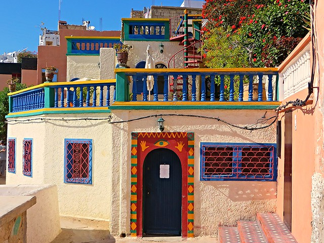 Taghazout, colourful house, beach house, best places to visit in Morocco