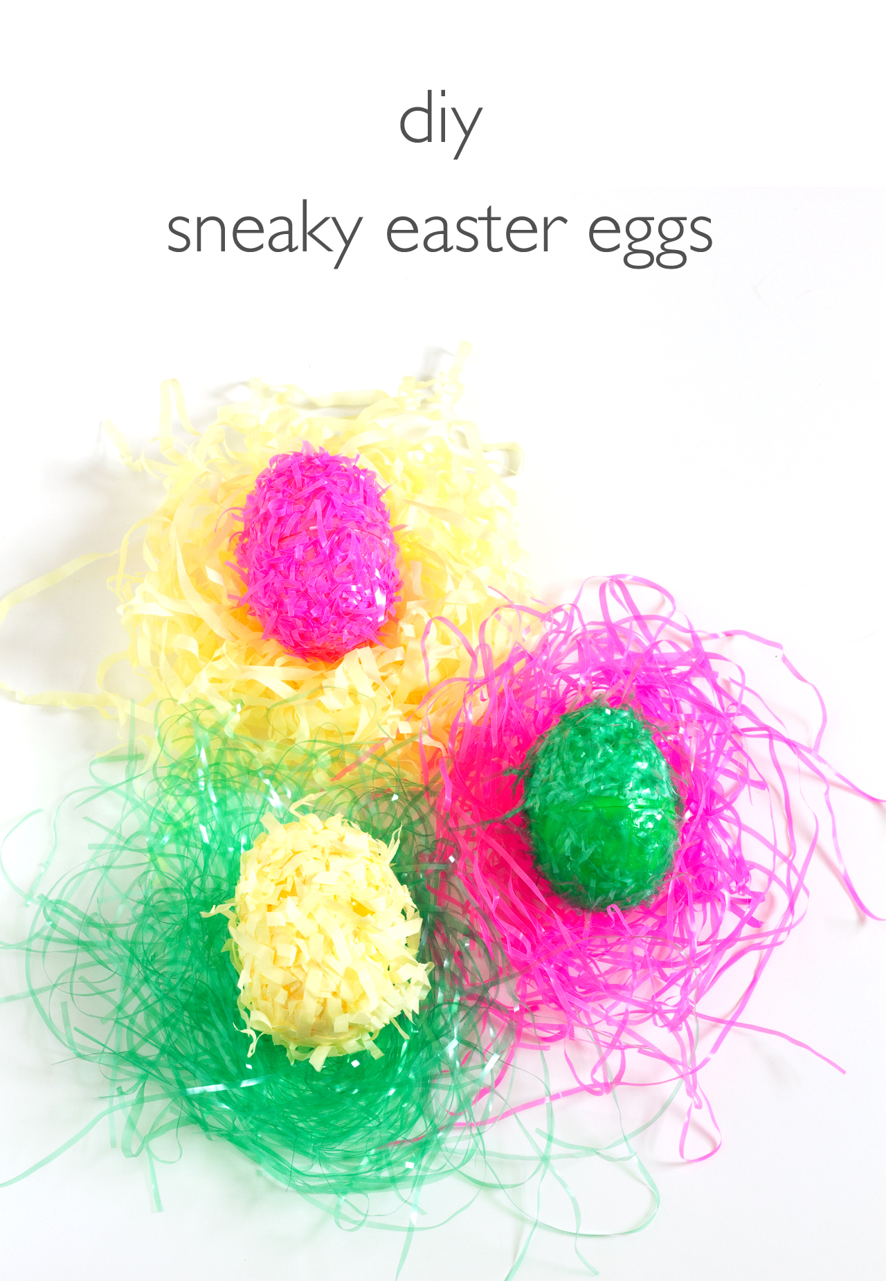 DIY Sneaky Easter Eggs