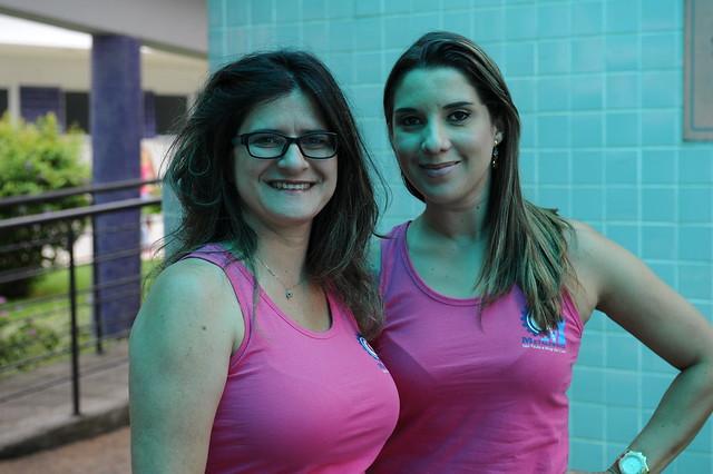Diretora Leninha e assessora Flávia