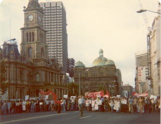 George street occupied: Protest in Sydney at dismissal 11 November 1975