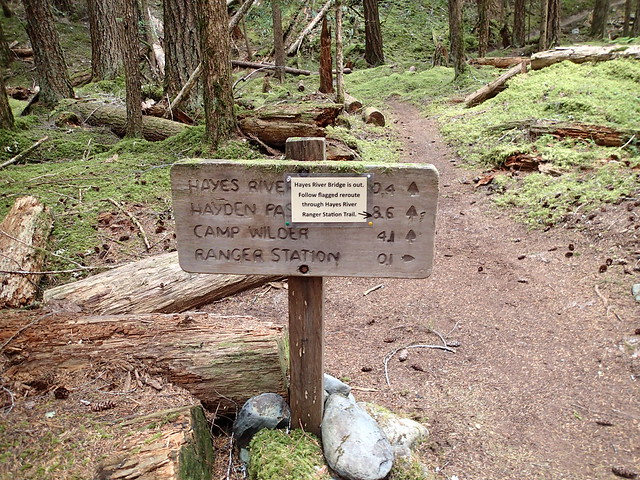 Elwha River Trail Sign