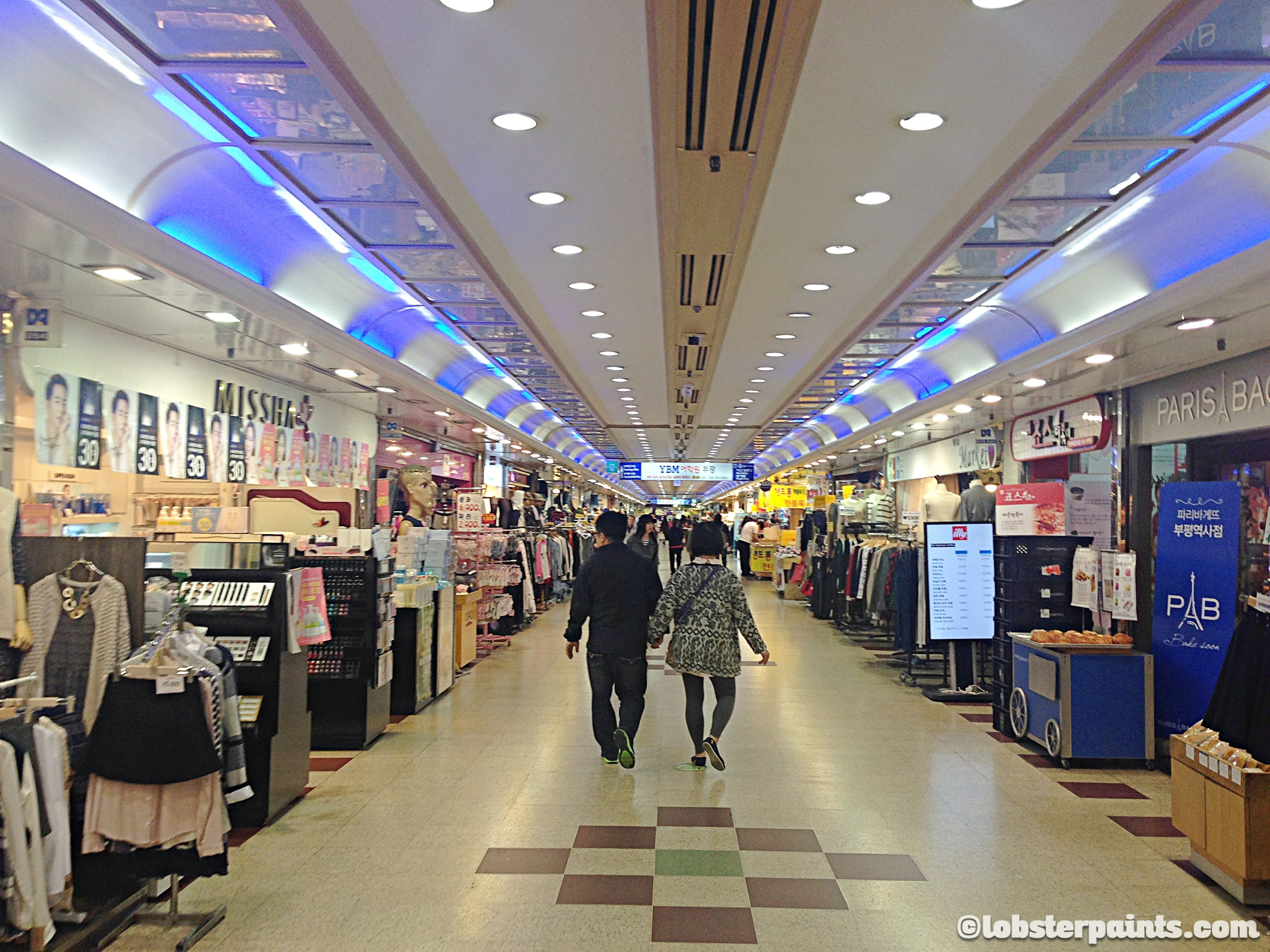 6 October 2015: Bupyeong Station Underground Shopping | Incheon, South Korea