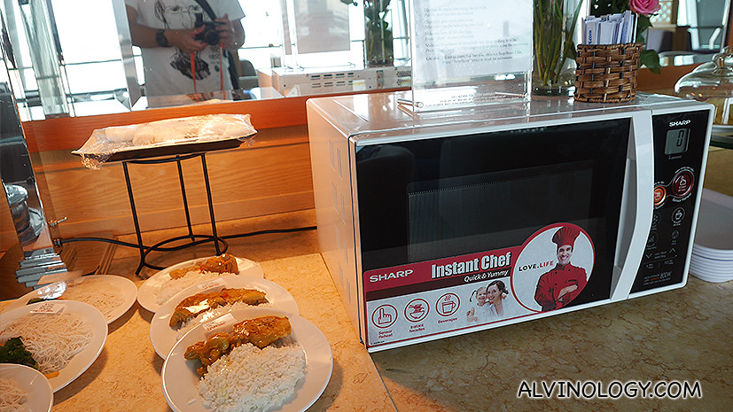 Microwave to heat food