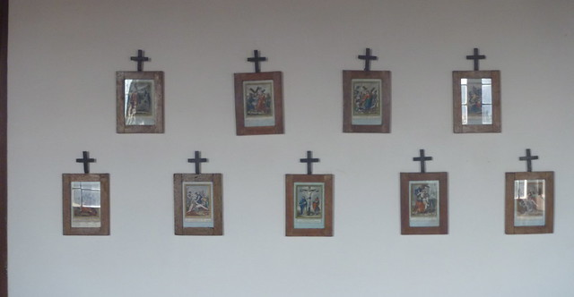 Stations of the cross on Sant' Antonio sitting room wall