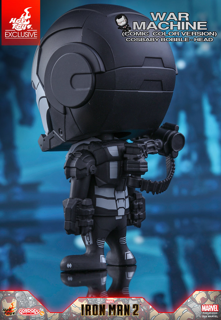 Hot Toys - COSB283 - 《鋼鐵人2》鋼鐵人馬克3 & 戰爭機器 (漫畫配色版) Cosbaby 搖頭娃娃