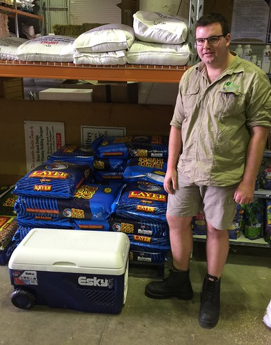 5th – Nick from Oliver's Pets & Plants, Glengowrie, SA, pictured with their Esky 65L Ice King Cooler.