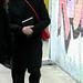 Grace Coddington outside for Donna Karan Runway NYFW FW2015