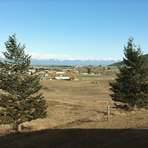 View from my parents' house looking toward Bigfork & the Swan Mountain Range. #montana #kalispell #bigsky #mountain